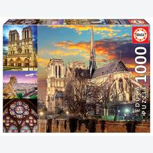 Jigsaw puzzle 1000 pcs - Notre Dame Collage (by Educa)