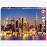 Jigsaw puzzle 1500 pcs - Manhattan at Night (by Educa)