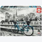 Jigsaw puzzle 500 pcs - Bike Near Notre Dame, Paris (by Educa)