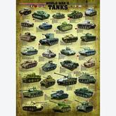 Jigsaw puzzle 1000 pcs - World War II Tanks (by Eurographics)