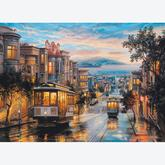 Jigsaw puzzle 1000 pcs - San Francisco Cable Car Heaven (by Eurographics)