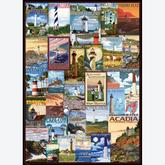 Jigsaw puzzle 1000 pcs - Lighthouses Vintage Posters (by Eurographics)