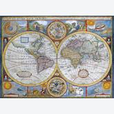 Jigsaw puzzle 1000 pcs - Antique World Map (by Eurographics)