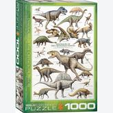 Jigsaw puzzle 1000 pcs - Dinosaurs of the Cretaceous (by Eurographics)
