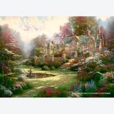 Jigsaw puzzle 2000 pcs - Gardens Beyond Spring Gate - Thomas Kinkade (by Schmidt)