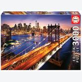 Jigsaw puzzle 3000 pcs - Manhattan at Dusk (by Educa)
