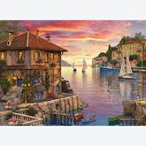Jigsaw puzzle 1000 pcs - Mediterranean Harbor - Dominic Davison (by Eurographics)