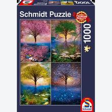 Jigsaw puzzle 1000 pcs - Magical tree at the lake (by Schmidt)