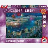 1000 pcs - Alexander Chen, Fireworks over Hong Kong (by Schmidt)