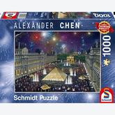 Jigsaw puzzle 1000 pcs - Alexander Chen, Fireworks at the Louvre (by Schmidt)