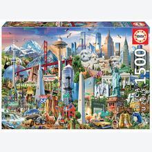 Jigsaw puzzle 1500 pcs - Landmarks of North America (by Educa)