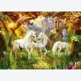 Jigsaw puzzle 1000 pcs - Unicorns in the fall (by Ravensburger)