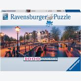 Jigsaw puzzle 1000 pcs - Evening in Amsterdam - Panorama (by Ravensburger)