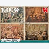 Jigsaw puzzle 1000 pcs - Living Room Entertainment  - Anton Pieck (by Jumbo)