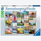 Jigsaw puzzle 1500 pcs - Coastal Collage (by Ravensburger)