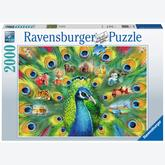 Jigsaw puzzle 2000 pcs - Land of the Peacock (by Ravensburger)