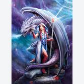 Jigsaw puzzle 1000 pcs - Dragon Mage - Anne Stokes (by Clementoni)