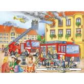 Jigsaw puzzle 100 pcs - Firemen - XXL (by Ravensburger)