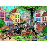 Jigsaw puzzle 500 pcs - Get the cat - Jan van Haasteren (by Jumbo)