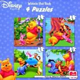 Jigsaw puzzle 4 pcs - Winnie the Pooh - Disney (by Jumbo)