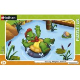 Jigsaw puzzle 15 pcs - Franklin Takes a Bath (by Nathan)
