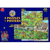 Jigsaw puzzle 1000 pcs - Football (3 puzzles) - Jan van Haasteren (by Jumbo)