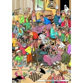 Jigsaw puzzle 500 pcs - The Chess Club - Jan van Haasteren (by Jumbo)