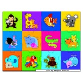 Jigsaw puzzle 24 pcs - Animals with Young - Macro (by Jumbo)