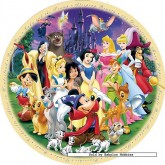 Jigsaw puzzle 1000 pcs - Wonderful World of Disney 1 - Round (by Ravensburger)