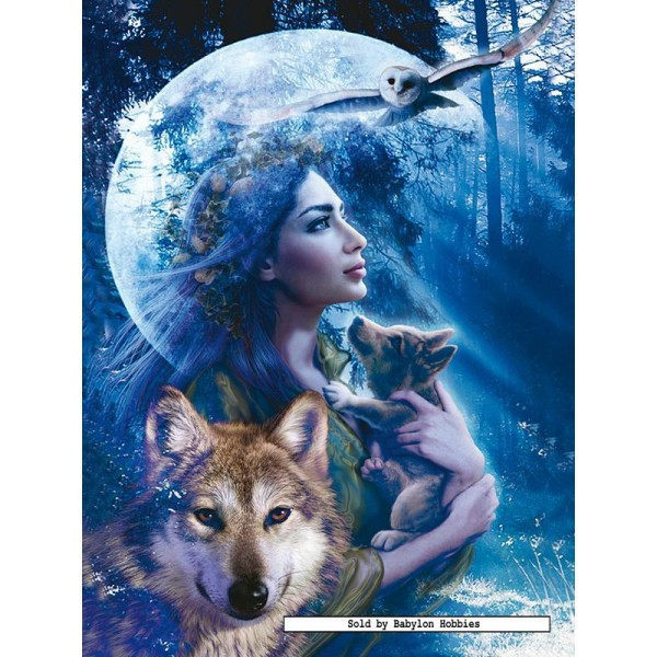 1000 Pcs Goddess Of The Wolves Original By