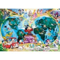 1000 pcs - Disney's World Map - Original (by Ravensburger)