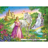 Jigsaw puzzle 200 pcs - Princess with a Horse - XXL (by Ravensburger)