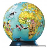 96 pcs - Children's Globe - Puzzleball Junior (by Ravensburger)