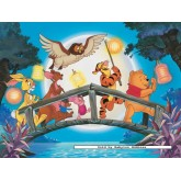 Jigsaw puzzle 100 pcs - Winnie The Pooh - Procession with Chinese lanterns - Disney (by Ravensburger)