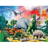 Jigsaw puzzle 100 pcs - Among the Dinosaurs - XXL (by Ravensburger)