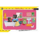 Jigsaw puzzle 15 pcs - Petit Ours Brun in bath (by Nathan)