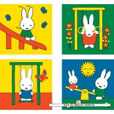 Jigsaw puzzle 2 pcs - Miffy - Progressive (by Ravensburger)
