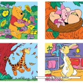 Jigsaw puzzle 6 pcs - Winnie Piglet Tigger and Rabbit - Winnie The Pooh (by Ravensburger)