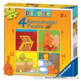 Jigsaw puzzle 6 pcs - Dikkie Dik - Progressive (by Ravensburger)