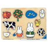 Jigsaw puzzle 10 pcs - Farm Animals - Miffy (by Ravensburger)