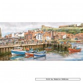 Jigsaw puzzle 636 pcs - Whitby Harbour - John Wood (by Gibsons)