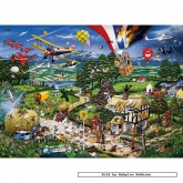 Jigsaw puzzle 1000 pcs - I Love the Country - Mike Jupp (by Gibsons)