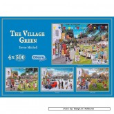 Jigsaw puzzle 500 pcs - The Village Green (4x) - Trevor Mitchell (by Gibsons)