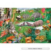 Jigsaw puzzle 250 pcs - Alphabet Jungle - Gale Pitt (by Gibsons)