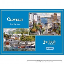 Jigsaw puzzle 1000 pcs - Clovelly (2x) - Terry Harrison (by Gibsons)