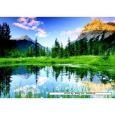 Jigsaw puzzle 1000 pcs - National Park Banff, Canada (by Nathan)