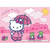 Jigsaw puzzle 125 pcs - Hello Kitty goes for a walk - Hello Kitty (by Ravensburger)