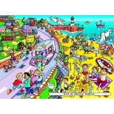 Jigsaw puzzle 100 pcs - The Seaside Trip - Spot the Difference (by Jumbo)