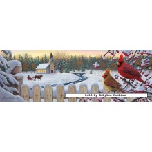 Jigsaw puzzle 1000 pcs - White Crimson Morning - Kim Norlien (by Masterpieces)