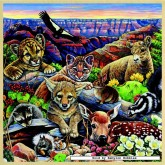 Jigsaw puzzle 48 pcs - Grand Canyon Wildlife - Wooden Puzzles (by Masterpieces)